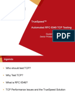 JDSU TrueSpeed Automated RFC-6349 TCP Testing