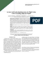 En Bloc Resection for Right Colon CA - Berrospi 2002