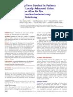 Long-Term Survival in Patients With en Bloc Pancreaticoduodenectomy - Saiura2008