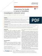 Pancreaticoduodenectomy for Locally Advanced Colon CA in HNPCC - Zhu