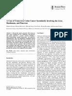 Transverse Colon Cancer Secondarily Involving the Liver Duodenum Pancreas - Suzaki1996