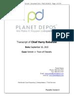 Transcript Chief Harry Robshaw Deposition