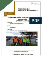 Topo II Informe 2 -- Levantamiento Por Radiacion
