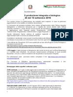 Bollettino Regionale n. 24 Del 15 Settembre 2016