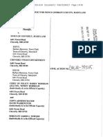 Earl Stone & Ed Gizinski v Town of Cheverly Maryland Complaint
