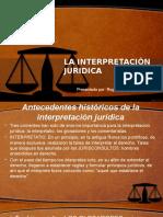 La Interpretacion Juridica