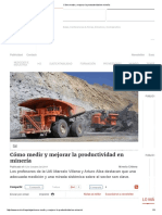 Cómo Medir y Mejorar La Productividad en Minería