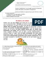 EVALUACION SUMATIVA DE PROCESO LENGUAJE Y COMUNICACION 2° BASICO