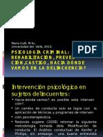 Univalle Psicología Criminal Rehabilitacion