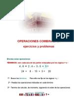 Operaciones Combinadas Ejercicios y Problemas