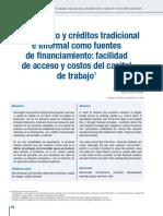 Microcredito y Credito Tradicional