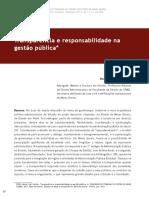 Transparência e Responsabilidade Na Administração Pública
