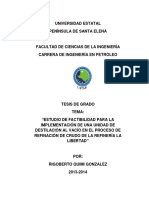 Tsis de Rfineria La Ibertad