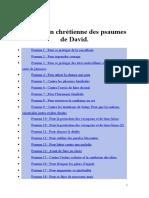 Utilisation Chrétienne Des Psaumes de David