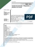 NBR 10281 - Torneira de Pressao