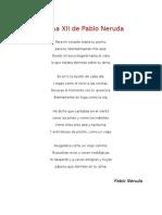 Tarea Poema XII de Pablo Neruda