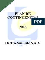 Plan de Contingencias 2016