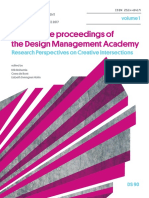 Conference Proceedings of the  Design Management Academy 2017 Volume 1