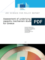 Georgios Antonopoulos et altri.Assessment of underlying capacity mechanism studies for Greece.JRC Science Hub,2017
