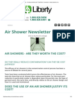 Air Showers - Are They Worth the Cost_ - East Berlin, Connecticut - Liberty Industries, Inc