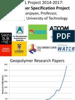 Geopolymer Specification Project_ Prof. Jay Sanjayan_university of Adelaide_18.11.14
