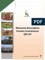 Frentes Economicos ZEE OT - CAJAMARCA