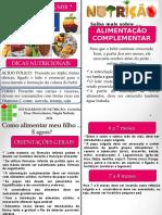 Panfleto - Alimentação complentar