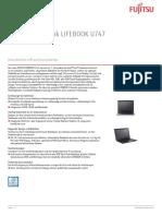 Ds Lifebook u747 De