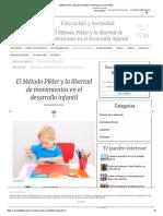 Método Pikler Educación Infantil en Libertad de Movimientos