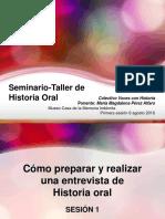 Presentación acerca de la historia oral