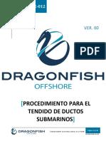 DF-PRT-OPE-012 Procedimiento Para El Tendido de Ductos Submarinos.