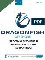 DF-PRT-OPE-013 Procedimiento Para El Dragado de Ductos Submarinos.