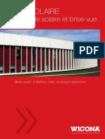 Brochure Wicsolaire Brise Soleil Volet Alu
