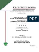 Analisis y Seleccion de Modelos de Certificacion Para Una Empresa Desarrolladora de Software