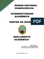 Reglamento Academico de Idiomas