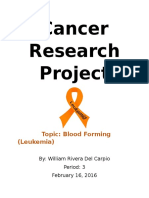 cancer research project
