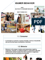 3511-Unit 1-Consumer Behavior Unit I-consumer Behavior Unit i