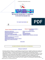 Conceptos Básicos Del Bloqueo Epidural y Espinal