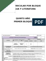 1.2 Plan Curricular Por Bloques Lengua 5to Año