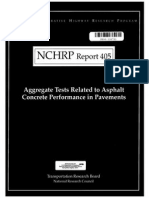 Aggregate Tests Related to Asphalt Concrete Performance in Pavements