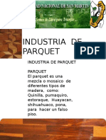 Industria de Parquet- Exposiciòn