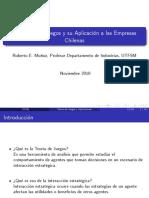 Teoría de Juegos y Su Aplicaciones a Las Empresas Chilenas - Roberto Muñoz