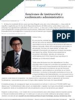 Acumulación de funciones de instrucción y sanción en el procedimiento administrativo sancionador - EML