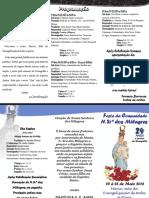 Nossa Senhora Do Milagres - Folder Festa