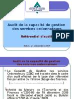 Référentiel d'Audit Des Capacités de Gestion Des Ordonnateurs