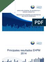 Presentación de La Encuesta EHPM 2014