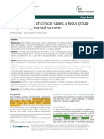 Role Modelling of Clinical Tutors (3)