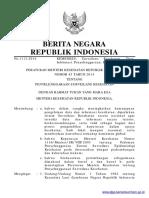 PERMEN KEMENKES Nomor 45 Tahun 2014 (Kemenkes No 45 Th 2014)