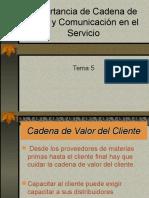 Tema 5 Importancia de La Cadena de Valor y Comunicación en El Servicio
