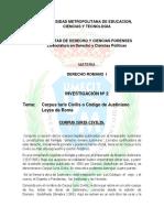 Corpus Iuris Civilis y Leyes